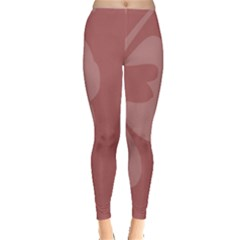 Hibiscus Sakura Red Leggings  by Mariart