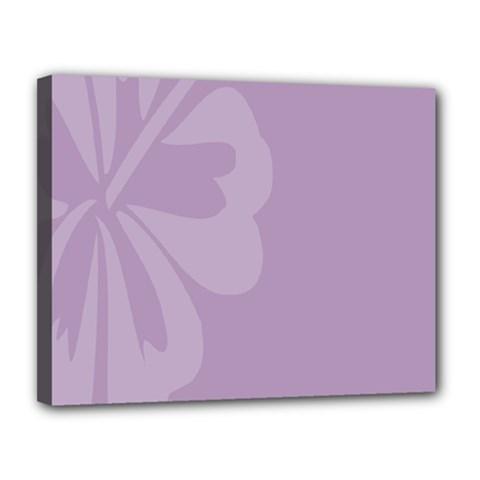 Hibiscus Sakura Lavender Herb Purple Canvas 14  X 11  by Mariart