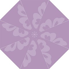 Hibiscus Sakura Lavender Herb Purple Straight Umbrellas by Mariart