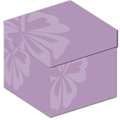 Hibiscus Sakura Lavender Herb Purple Storage Stool 12   by Mariart
