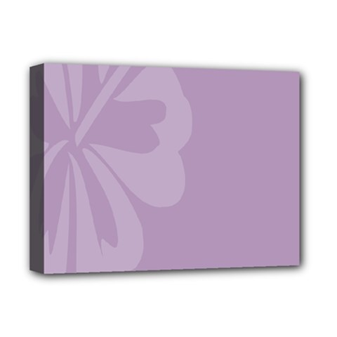 Hibiscus Sakura Lavender Herb Purple Deluxe Canvas 16  X 12   by Mariart