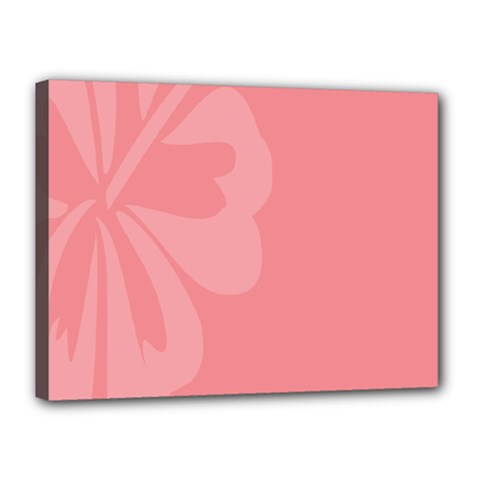 Hibiscus Sakura Strawberry Ice Pink Canvas 16  X 12  by Mariart