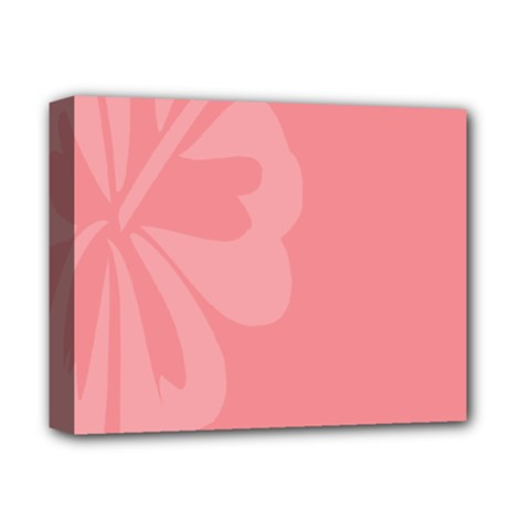 Hibiscus Sakura Strawberry Ice Pink Deluxe Canvas 14  X 11  by Mariart