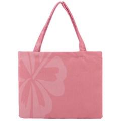 Hibiscus Sakura Strawberry Ice Pink Mini Tote Bag by Mariart