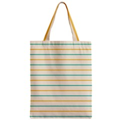 Horizontal Line Yellow Blue Orange Zipper Classic Tote Bag by Mariart