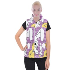 Easter Women s Button Up Puffer Vest by Valentinaart