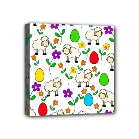 Easter Lamb Mini Canvas 4  X 4  by Valentinaart