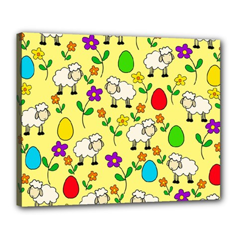 Easter Lamb Canvas 20  X 16  by Valentinaart