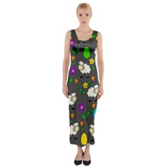 Easter lamb Fitted Maxi Dress
