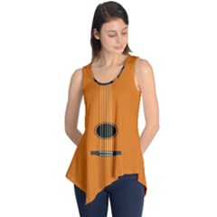 Minimalism Art Simple Guitar Sleeveless Tunic by Mariart