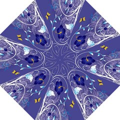 Flowers Butterflies Patterns Lines Purple Straight Umbrellas by Mariart