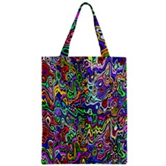 Colorful Abstract Paint Rainbow Zipper Classic Tote Bag by Mariart