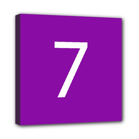 Number 7 Purple Mini Canvas 8  X 8  by Mariart