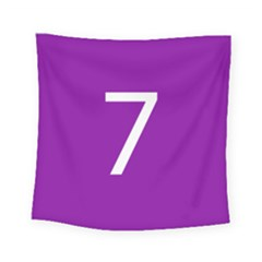 Number 7 Purple Square Tapestry (small)