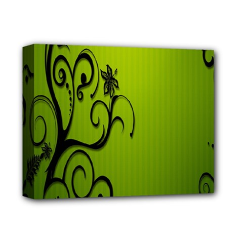 Illustration Wallpaper Barbusak Leaf Green Deluxe Canvas 14  X 11  by Mariart