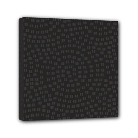 Oklahoma Circle Black Glitter Effect Mini Canvas 6  X 6  by Mariart