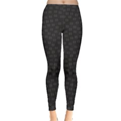 Oklahoma Circle Black Glitter Effect Leggings  by Mariart