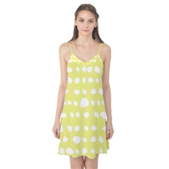 Polkadot White Yellow Camis Nightgown by Mariart