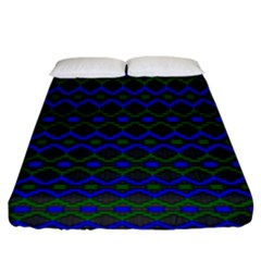Split Diamond Blue Green Woven Fabric Fitted Sheet (king Size) by Mariart