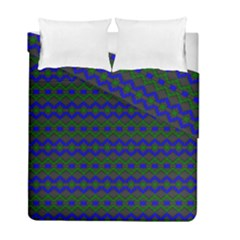 Split Diamond Blue Green Woven Fabric Duvet Cover Double Side (full/ Double Size) by Mariart
