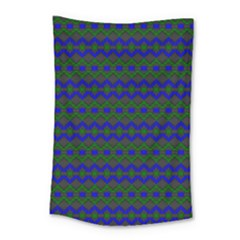Split Diamond Blue Green Woven Fabric Small Tapestry by Mariart