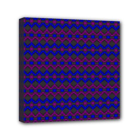 Split Diamond Blue Purple Woven Fabric Mini Canvas 6  X 6  by Mariart