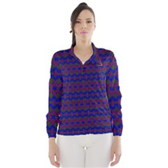 Split Diamond Blue Purple Woven Fabric Wind Breaker (women) by Mariart