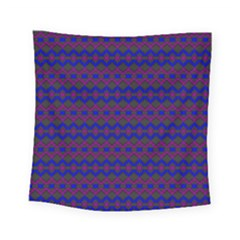 Split Diamond Blue Purple Woven Fabric Square Tapestry (small) by Mariart