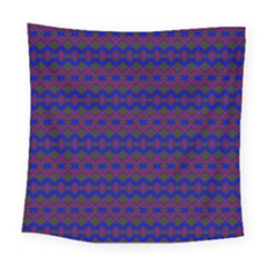 Split Diamond Blue Purple Woven Fabric Square Tapestry (large) by Mariart