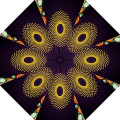 Polka Dot Circle Leaf Flower Floral Yellow Purple Red Star Straight Umbrellas by Mariart