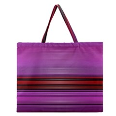 Stripes Line Red Purple Zipper Large Tote Bag by Mariart