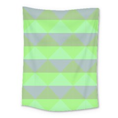 Squares Triangel Green Yellow Blue Medium Tapestry by Mariart