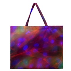 Vaccine Blur Red Zipper Large Tote Bag