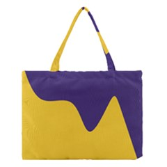 Purple Yellow Wave Medium Tote Bag by Mariart