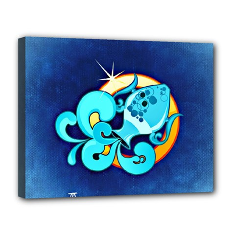 Zodiac Aquarius Canvas 14  X 11  by Mariart