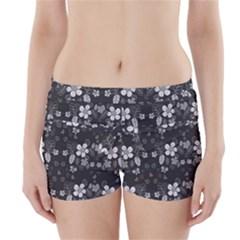Floral pattern Boyleg Bikini Wrap Bottoms by Valentinaart