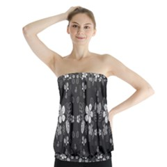 Floral pattern Strapless Top by Valentinaart