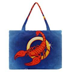 Zodiac Scorpio Medium Zipper Tote Bag by Mariart