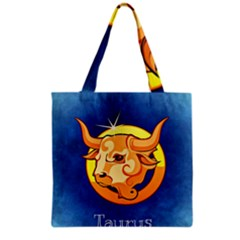 Zodiac Taurus Grocery Tote Bag by Mariart