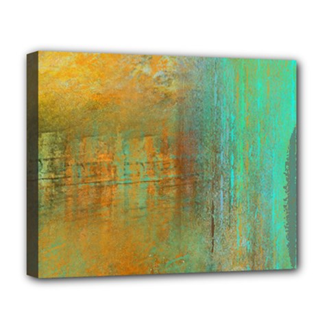 The Waterfall Deluxe Canvas 20  X 16   by theunrulyartist