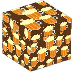 A Fun Cartoon Frothy Beer Tiling Pattern Storage Stool 12   by Nexatart