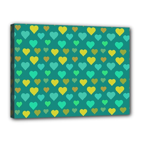 Hearts Seamless Pattern Background Canvas 16  X 12  by Nexatart