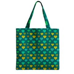 Hearts Seamless Pattern Background Zipper Grocery Tote Bag by Nexatart