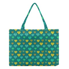 Hearts Seamless Pattern Background Medium Tote Bag by Nexatart