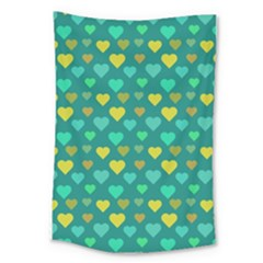Hearts Seamless Pattern Background Large Tapestry by Nexatart