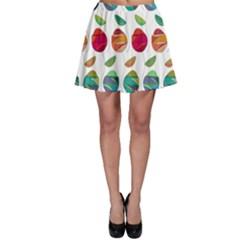 Watercolor Floral Roses Pattern Skater Skirt