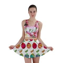 Watercolor Floral Roses Pattern Mini Skirt