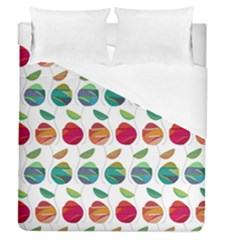 Watercolor Floral Roses Pattern Duvet Cover (Queen Size)