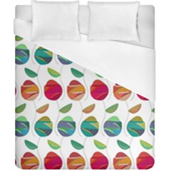 Watercolor Floral Roses Pattern Duvet Cover (California King Size)