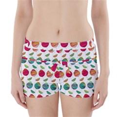 Watercolor Floral Roses Pattern Boyleg Bikini Wrap Bottoms